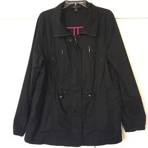 Style & Co Black Lightweight Jacket